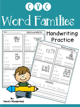 CVC Word Families Worksheets for Independent Practice