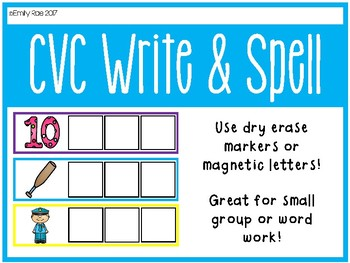 CVC Write and Spell Segmenting Cards