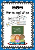 CVC - Write and Wipe Cards - Word Shapes