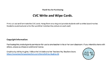 CVC Write and Wipe Cards