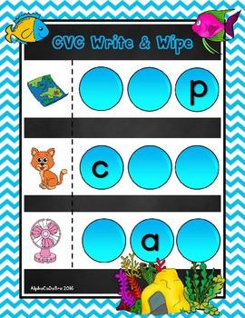 CVC Write and Wipe Mats