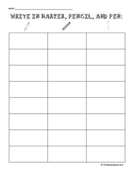 CVC Write in Marker, Pencil, Pen