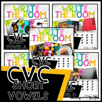 CVC Write the Room- 5 Sets- Literacy Station