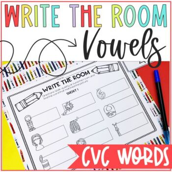 CVC Write the Room (ALL VOWELS INCLUDED)
