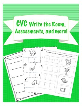 CVC Write the Room, Assessment, and learning goals