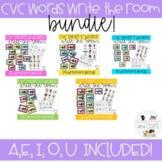 CVC Word Games Write the Room Bundle!