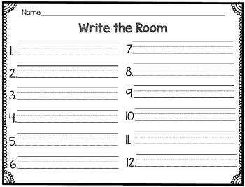 CVC Write the Room- Short A