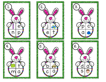 CVC Write the Room~ Unscramble and Record~ Easter Style