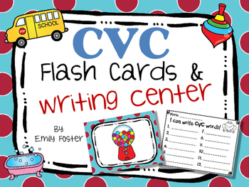 CVC Flash Cards and Writing Center