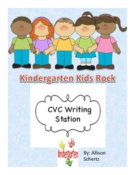 CVC Writing Station- Kindergarten
