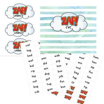 CVC - ZAP literacy game