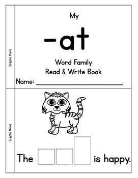 CVC: _at Word Family Book