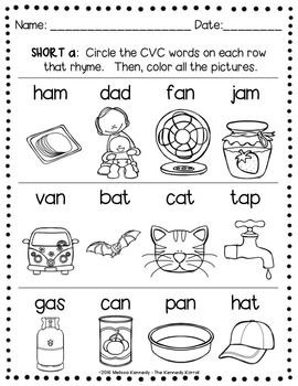 Word Work: Short Vowels - CVC