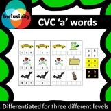 CVC 'a' words spelling, matching letters and picture cards