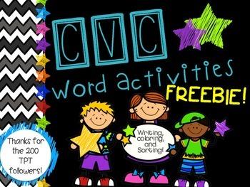 CVC activity Pack FREEBIE!!!