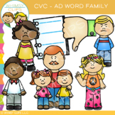 CVC -ad Word Family Clip Art {Volume One}