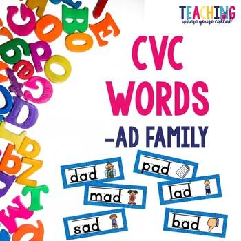 CVC -ad Words