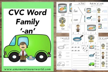 CVC -ad, -ag, -an and -at Word Families