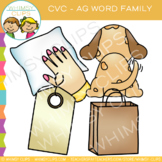 CVC Clip Art: -ag Word Family Clip Art {Volume One}
