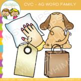 CVC Clip Art: -ag Word Family Clip Art {Volume One}