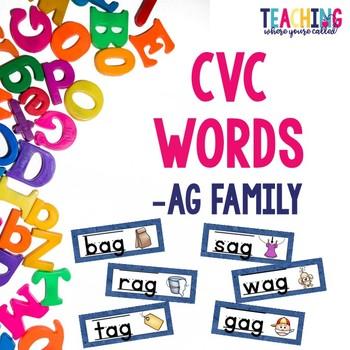 CVC -ag Words