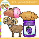CVC Clip Art: -am Word Family Clip Art {Volume One}