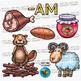 CVC -am Word Family Clip Art