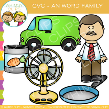 -AN Word Family CVC Clip Art