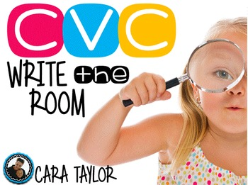 CVC and Beginning Sound Write the Room with Photos!