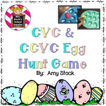 CVC and CCVC Egg Hunt Game