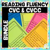 CVC and CVCC Reading Fluency Passages NO PREP