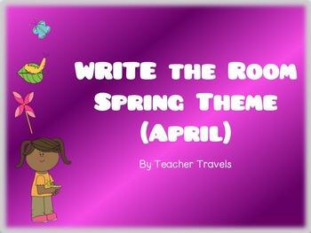 CVC and CVCC Write the Room April Theme