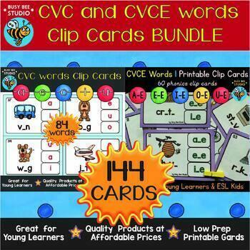 CVC and CVCE Clip Cards Bundle