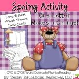 CVC and CVCE Contrasts Phonics Reading English Language Arts Center Station