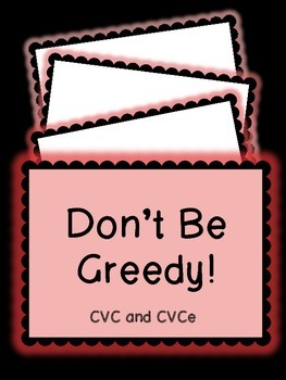 CVC and CVCe Don't Be Greedy Card Game!