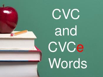 CVC and CVCe Flashcards