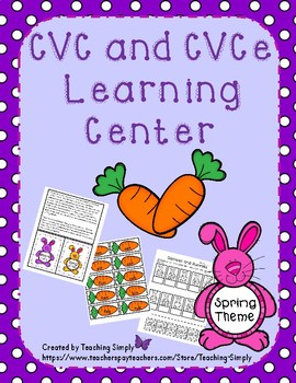 CVC and CVCe Learning Center - Vowels - RTI - Phonics