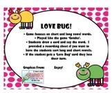 CVC and CVCe Love Bug Game!  {Valentine}