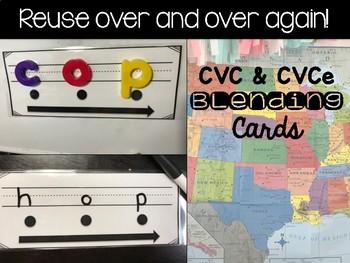 CVC and CVCe Reusable Task Cards