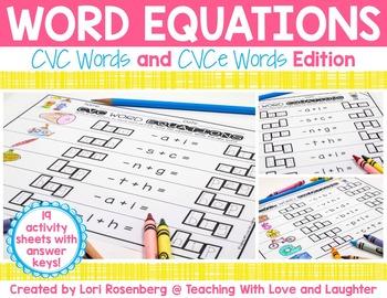 CVC and CVCe Word Equations