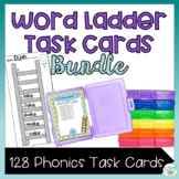 Word Ladder Task Card Bundle: Short Vowels, Silent E, Blends, and Digraphs
