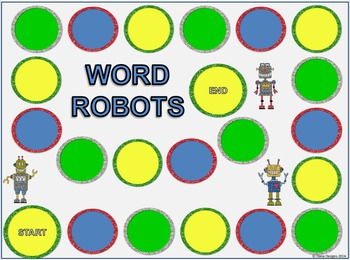 CVC and CVCe Word Robot Board Game