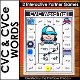 CVC and CVCe Words   Literacy Games for Kindergarten