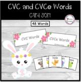 CVC and CVce Word Sort