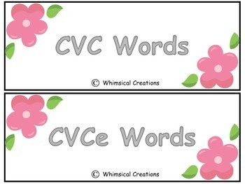 CVC and CVce Word Sort