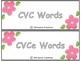 CVC and CVce Word Sort (Spring Edition) (Distance Learning)
