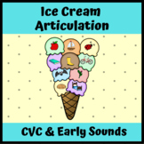CVC Words and Early Sounds Ice Cream Articulation for Speech Therapy