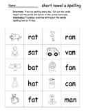 CVC and Long Vowel Spelling Sorts