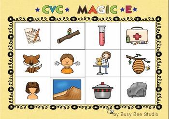 CVC and Magic E Lotto Game