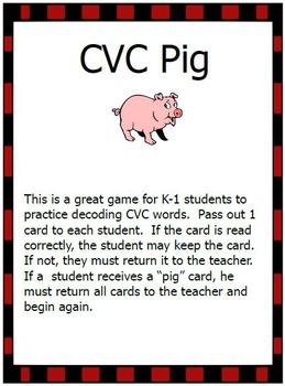 CVC and NWF Pig Games